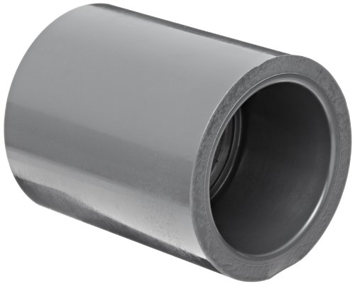 Spears 829 Series PVC Pipe Fitting, Coupling, Schedule 80, 1-1/2