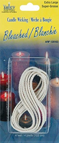 Yaley 4-Feet Candle Wicking Bleached, X-Large