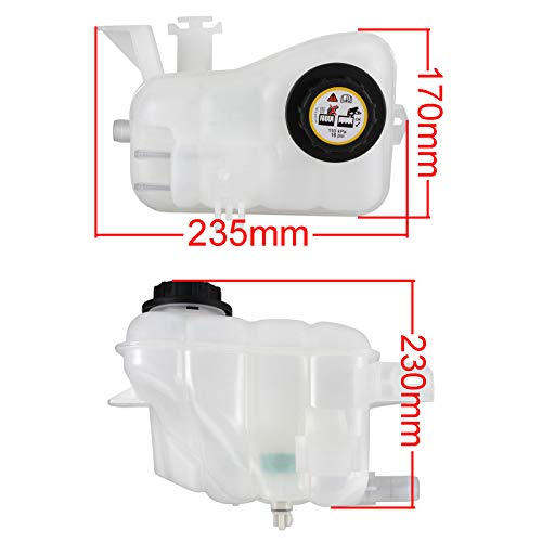 Madlife Garage Coolant Overflow Reservoir 1F1Z8A080BA 3F1Z8A080EA For 1996-2007 Ford Taurus 1996-2006 Mercury Sable