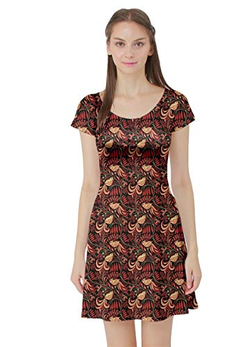 (CowCow Womens The Russian Traditional Style Short Sleeve Skater Dress -)