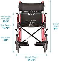 Amazon.com: Silla de transporte ligero Nova 352 con brazos ...
