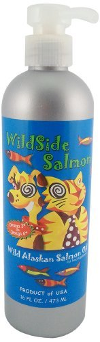 WildSideSalmon Oil for Dogs and Cats, 16-Ounce