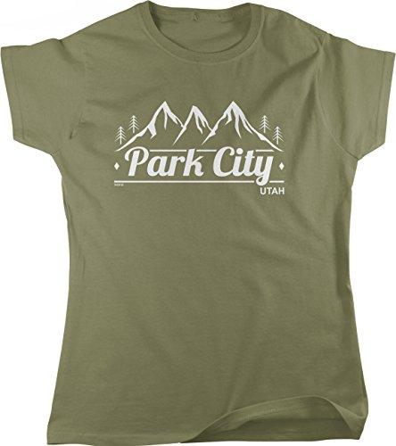 Hoodteez Park City, Utah Women's T-Shirt, M Moss