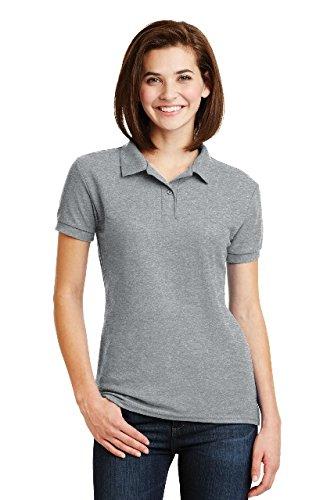 Gildan Womens DryBlend 6.3 oz. Double Piqué Sport Shirt (G728L) -SPORT GREY -M