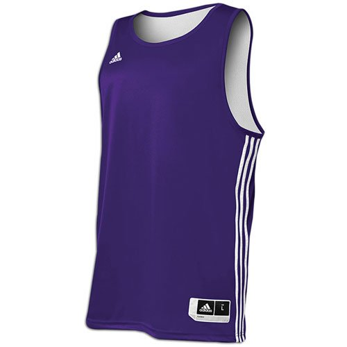 (Adidas Mens Reversible Basketball Practice Jersey XL Purple/White )