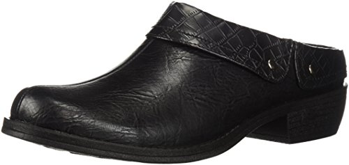 - Easy Street Women's Becca Mule, Black/Crocodile, 9 M US