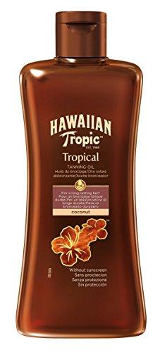 Hawaiian Tropic Tanning Oil ohne LSF, 1er Pack (1 x 200 ml)