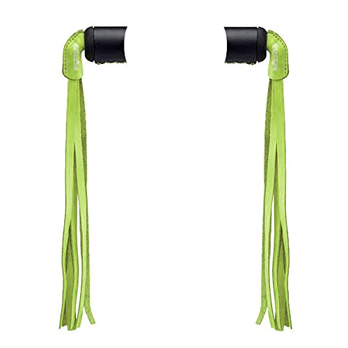 Electra Green Leather Bike Bicycle Streamers Set Of 2