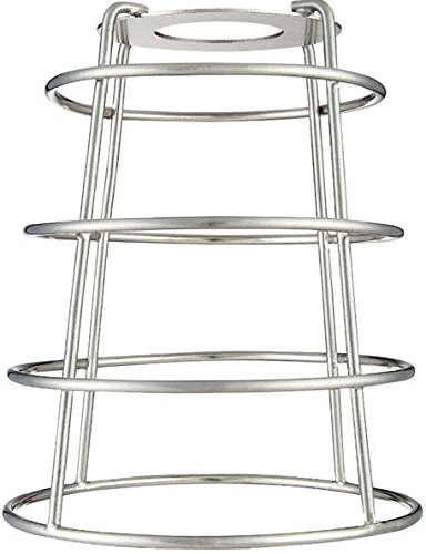 Westinghouse 85036 Cylindrical Open Bottom Cage Shade, Brushed Nickel (Ceiling Westinghouse Classic Fan)