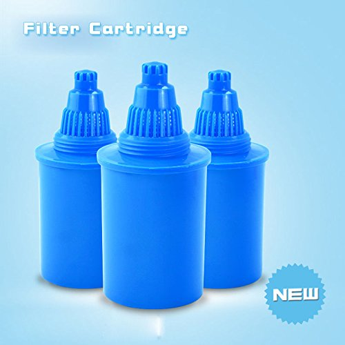 Wellblue 3pcsthe Alkaline Water Pitcher Cartridge(Blue)