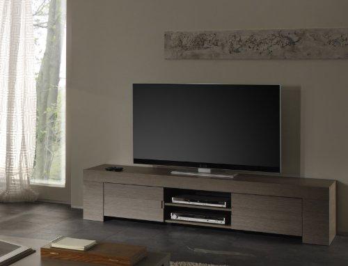 TV Schrank Eos gross mit 2 Türen, 190 x 45 x 50 cm, Eiche grau Nachbildung
