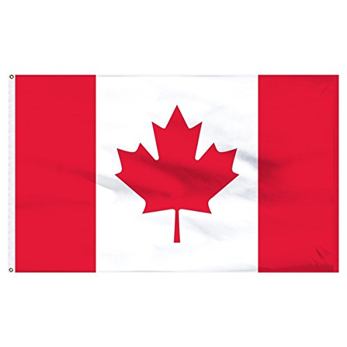 ALBATROS Nylon 210D Canada Canadian Flag 3 ft x 5 ft House Banner with Clips for Home and Parades, Official Party, All Weather Indoors Outdoors