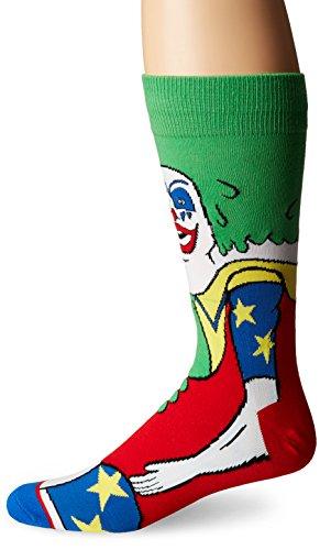(Odd Sox Men's Doink the Clown (360 Knit), Multi, Sock Size:10-13/Shoe Size: 6-12)