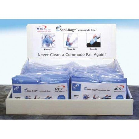 Commode Pail Liners w/Gel Display Pack (10x10 packs) by Mobility Transfer System