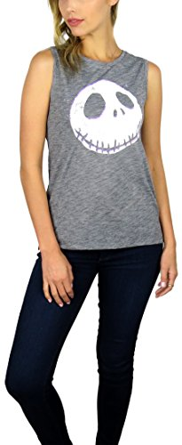 Christmas Clothes For Women (Disney Nightmare Before Christmas Womens Sleeveless Tank Top (Skellington Grey,)