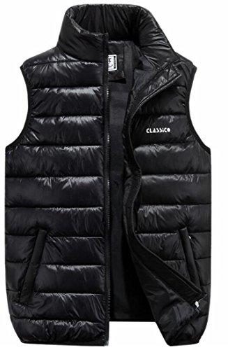 Puffer Men Jacket Stylish Zipper Vest Black Sleeveless Down Pocket TTYLLMAO ZHw7q