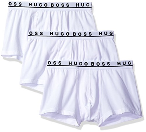 - Hugo Boss BOSS Men's 3-Pack Stretch Cotton Regular Fit Trunks, White, Small