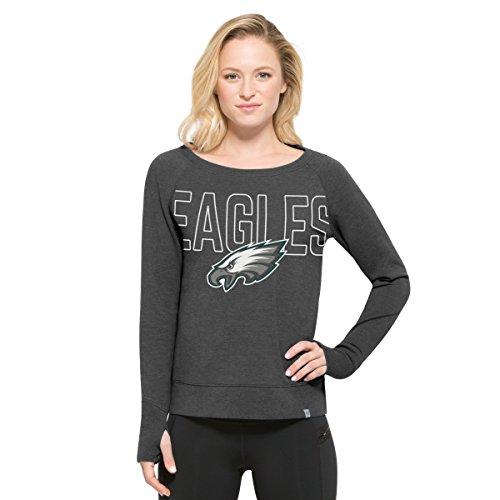 NFL Philadelphia Eagles Women's '47 React Raglan Long Sleeve Tee, Large, Pavement