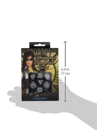 Q-Workshop Steampunk Clockwork Black & White Dice Set (7) Board Games 5