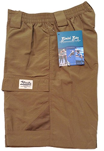 Bimini Bay Outfitters Men's Grand Cayman Nylon Short 31670 Dark Khaki 3XL