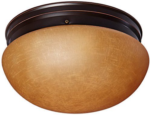 Nuvo Lighting 60/2646 Two Light Large Mushroom Flush Mount Ceiling Fixture with Champagne Linen Glass Shade - Mushroom Flush Mount Ceiling Fixture