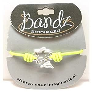 Toc Bandz Palm Tree Lime Green Elastic 6 Inch Stretch Love Bracelet
