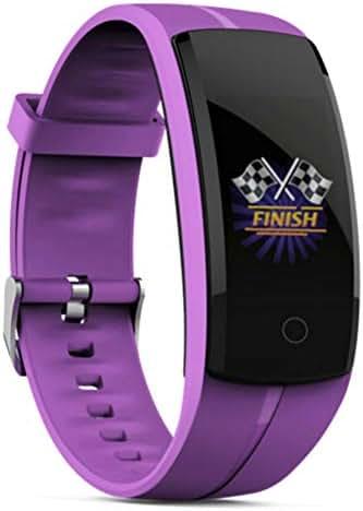 Sizet Smart Bracelet Smart Watch Blood Pressure/Heart Rate Monitor Fitness Tracker Bracelet Android iOS Smart Wristband (Purple)