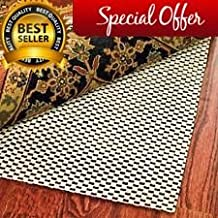 Extra Thick High Quality Premium Area Rug Underpad Rug Pad 8 by 11 Feet Rugs On Hard Surface Floors Thick Underlay For Rugs Prevents Slipping - Non Slip Underpad Extra Thick