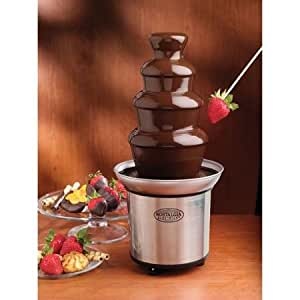 3-Tier Plastic Tower, Stainless Steel Base, Chocolate Fondue Fountain