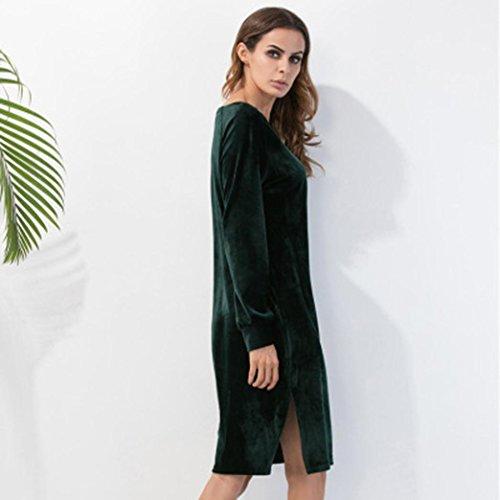 Robe Femme, Oyedens Femmes Manches Longues Robe Fendue Du CôTé