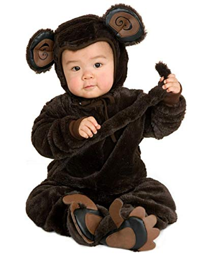 Charades Plush Monkey Baby/Todder Costume, Newborn -