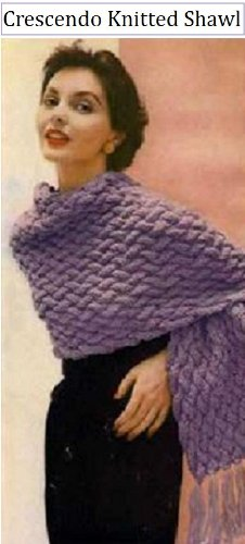CRESCENDO SHAWL - Vintage 1950's Knitting Pattern ~ Kindle Book / Ebook Download (e-book, knit, knitted, stole, yarn, craft, women, girl, clothing)