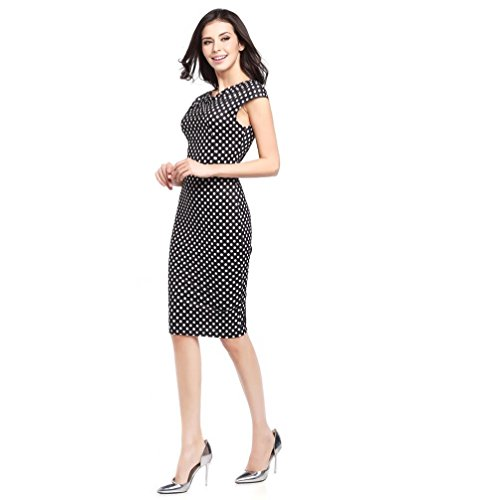 Summer Pencil Short Mini Dress DaySeventh Business 2 Black Office Women Sleeve Bandage Bodycon 6dqfBq0w