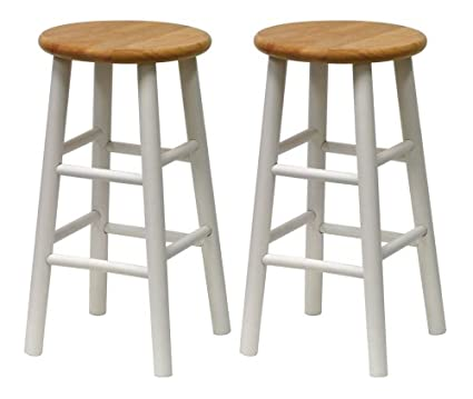 Amazon.com: Winsome Wood S/2 Beveled Seat 24-Inch Counter Stools ...