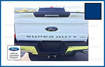 CHROME MIRROR 2018 Ford F150 Tailgate Insert Decals Letters Inlay Stickers