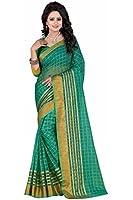 J B Fashion Women's poly cotton saree with blouse piece