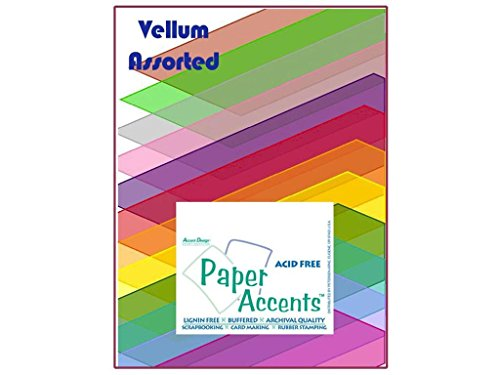 Paper Accents Cardstock Variety Pack 8.5x11 Assorted Vellum 25pc