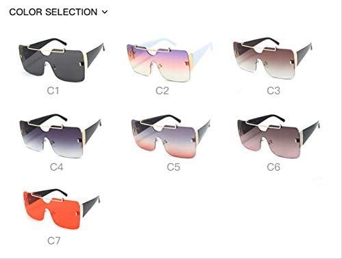 KJGTR Lunettes de soleil femmeFashion es luxury Brand r Oversized Gradient One Piece Sun Lunettes Men New UV400 United States 3