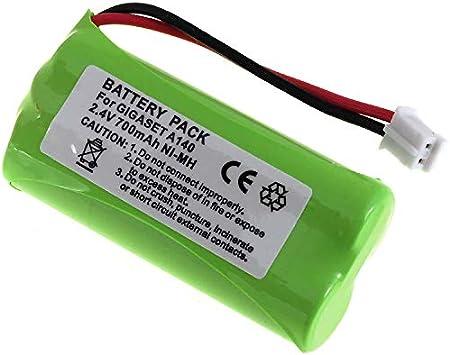 Batería de alta calidad para Siemens Gigaset AS 15 AS140/A140/A150/A160/A165/A240/A245/A260/A265/T-Com Sinus 100/Voltaje 2,4 V: Amazon.es: Electrónica