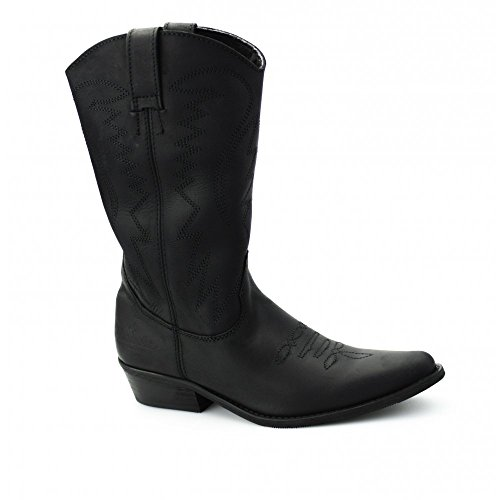 Wrangler TEXAS Hi–Stivali da cowboy polpaccio in pelle nero