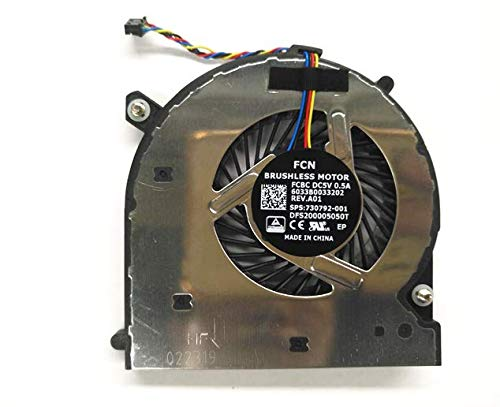 Cooler para HP 840 G1 850G1 740G1 745G1 ZBook 14 KSB0805HB-CM23 6033B0033202 730792-001 4-Cables Fan