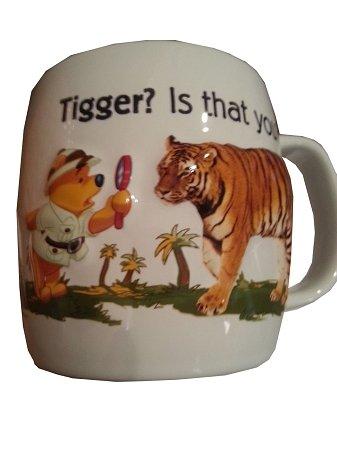 Disney Parks Animal Kingdom Winnie the Pooh and Tiger Ceramic Mug