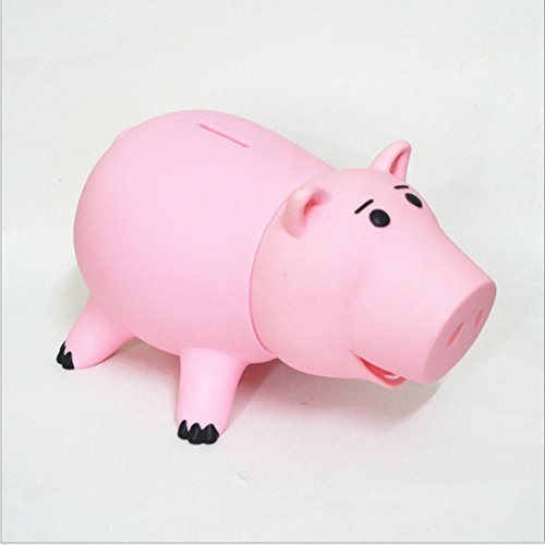 HairPhocas Cute Pink Pig Money Box Plastic Piggy Bank for Kid's Birthday Gift with No Box