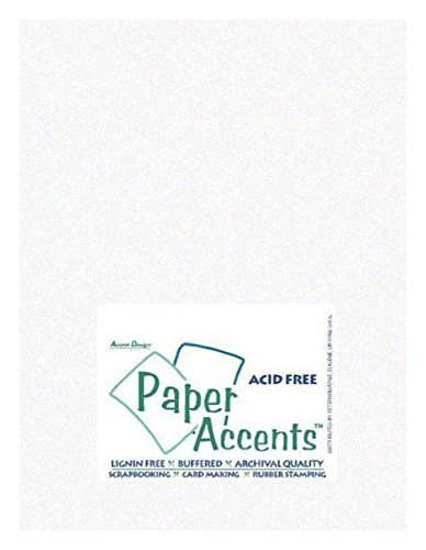 Accent Design Paper Accents ADP8511-25.940 No.29 8.5'' x 11'' Parchment White Art and Craft Vellum by Accent Design Paper Accents
