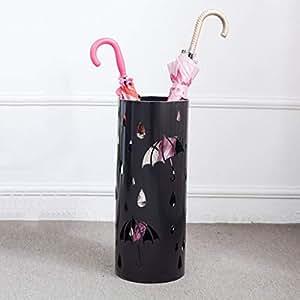 CQ Nordic Simple Fashion Iron Umbrella Stand Metal Carved Umbrella Bucket Household Umbrella Storage Black Umbrella Stand