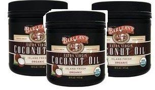 Barlean's Organic Oils Extra Virgin Coconut Oil - 16 Oz 3 Pack