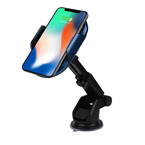SUKEQ Wireless Car Charger, Automatic Induction Qi Wireless Car Mount Air Vent Holder Cradle Wireless Charging for iPhone X/8/8 Plus, Samsung Galaxy S9/S9 Plus, and More