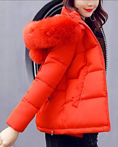 Donne 2 Piumino Di Sicurezza Leggeri Cappuccio Delle Puffer Con Cappotto Breve Outwear Pq7w48T
