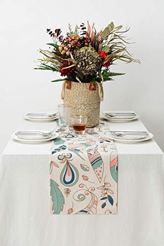 """KEY SPRING Tribal Table Runners (72 X12 Inch) for Wedding Table Decor, Bridal Shower, Birthday Party, Housewarming Gift… - Material: Cotton & Linen Size: 12"""" X 72"""" (30cm X 180cm) Technology:High Temperature Digital Printing - table-runners, kitchen-dining-room-table-linens, kitchen-dining-room - 410xI7S3ukL -"""