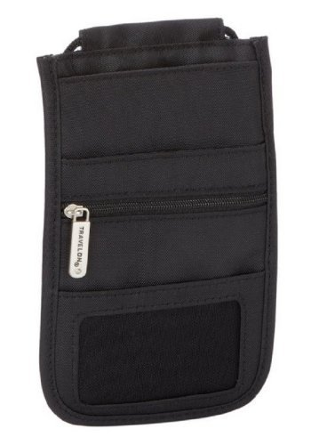 Travelon Safe ID RFID Blocking Classic Delux Boarding Pouch - Black